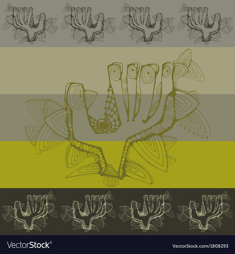 Pattern with greeting contoured hands vector | Price: 1 Credit (USD $1)