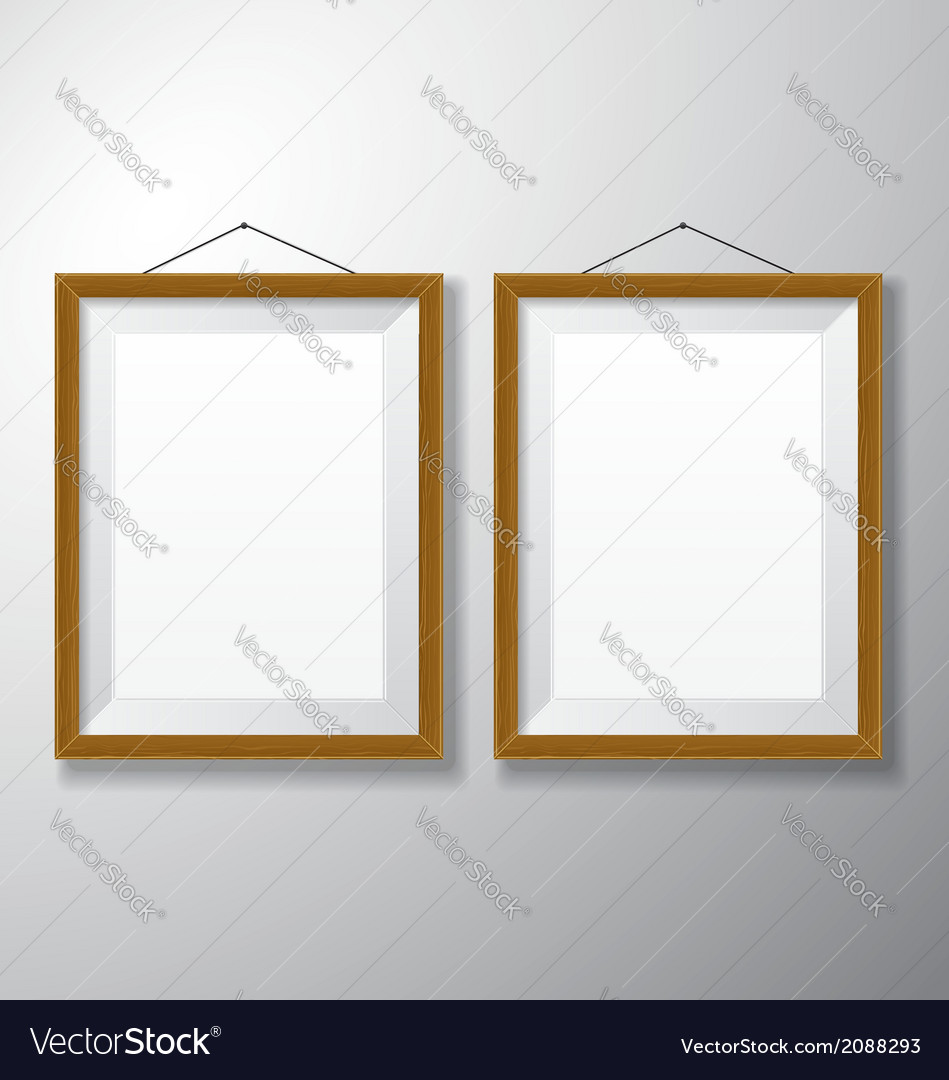 Picture frames wooden vertical vector | Price: 1 Credit (USD $1)