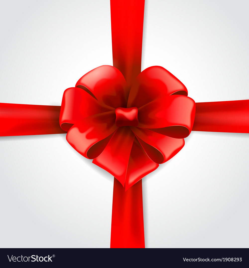 Red ribbon with bow vector | Price: 1 Credit (USD $1)