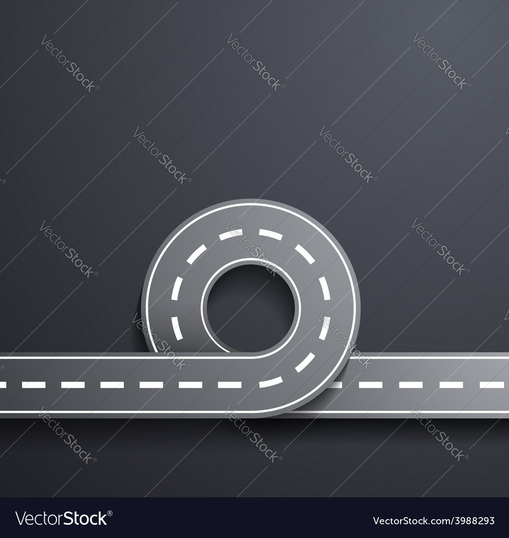 Road on a gray background vector | Price: 1 Credit (USD $1)