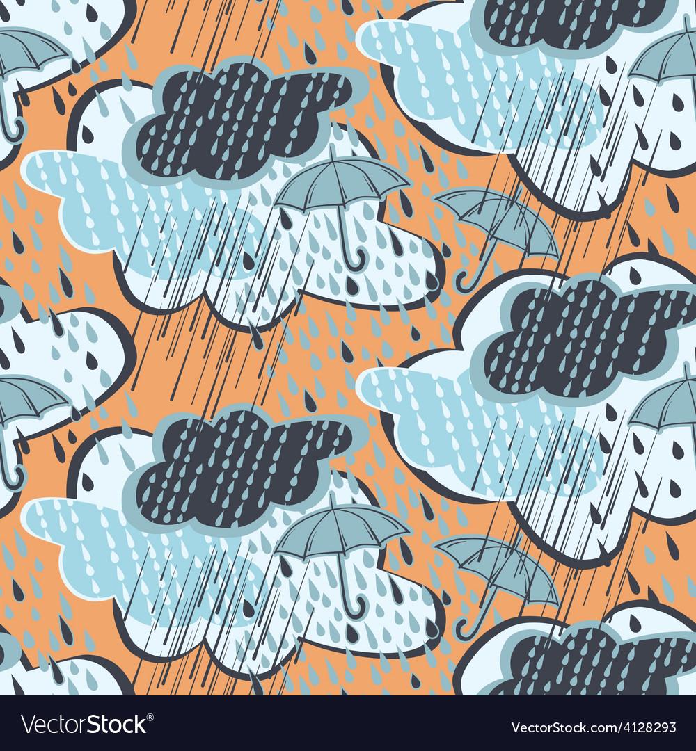 Seamless rain pattern vector | Price: 1 Credit (USD $1)