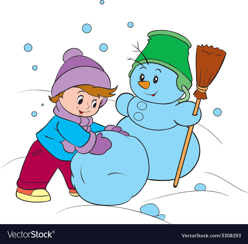 Winter fun vector | Price: 1 Credit (USD $1)