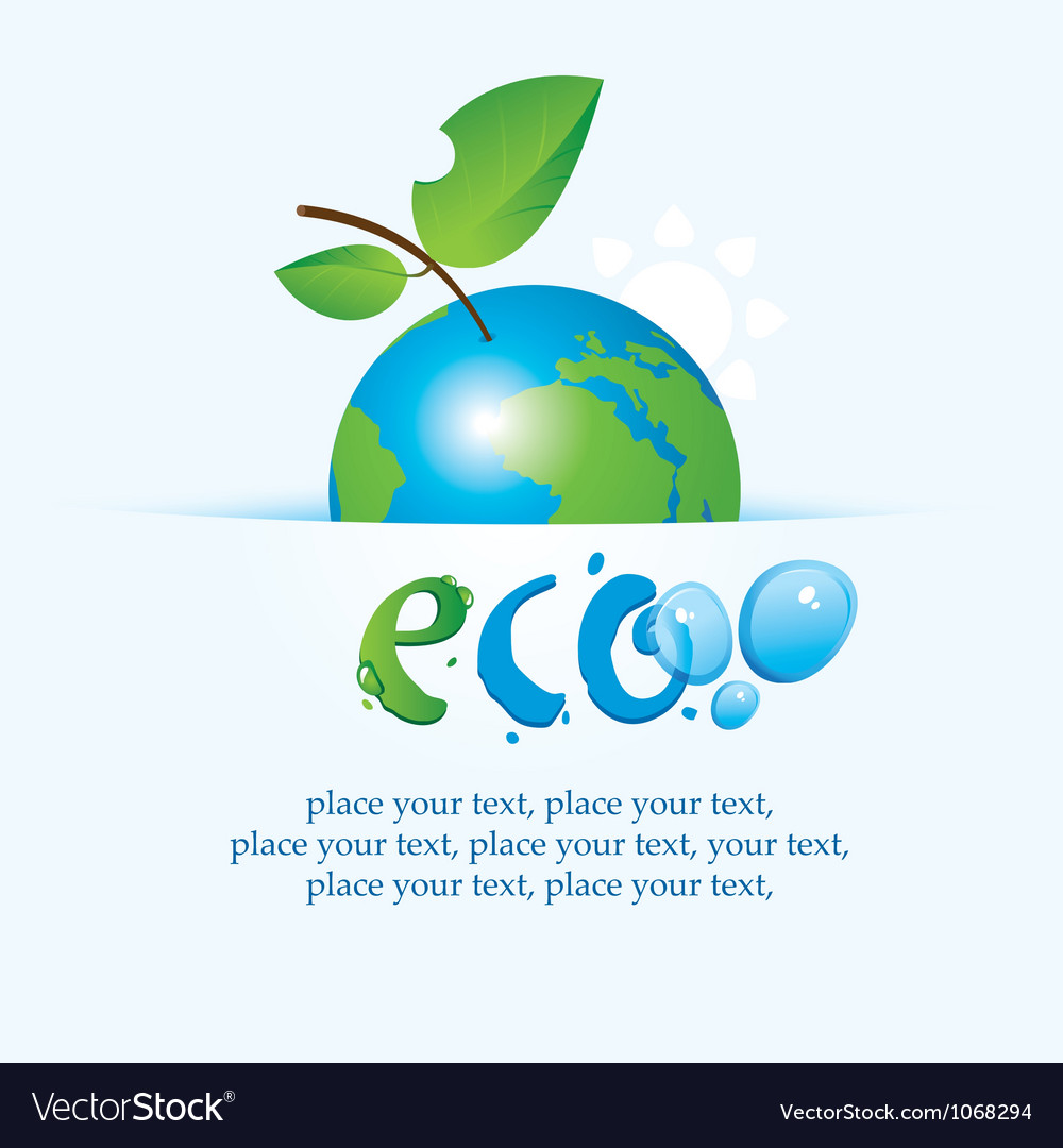 Apple planet vector | Price: 1 Credit (USD $1)