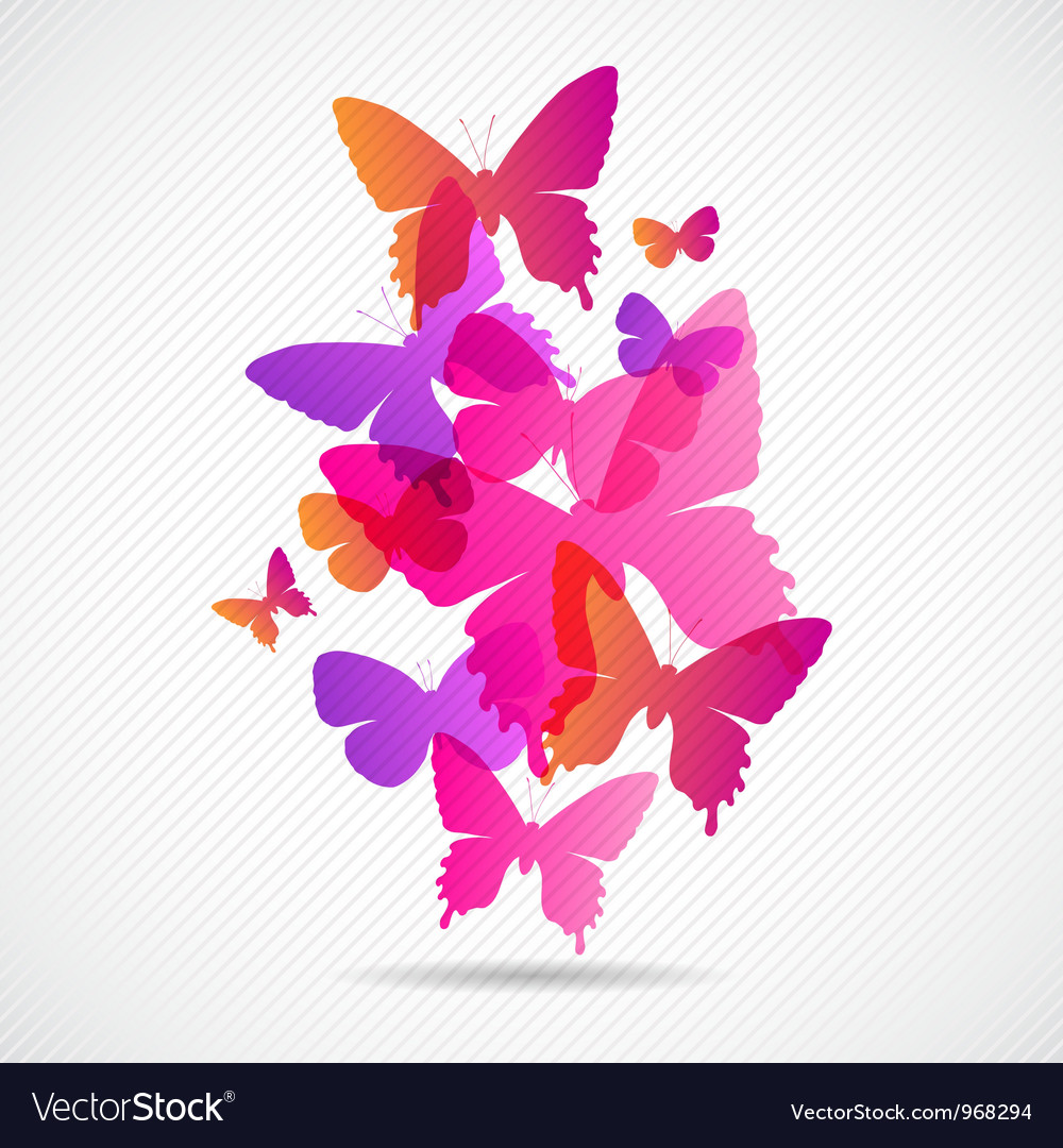 Butterflies design background vector | Price: 1 Credit (USD $1)