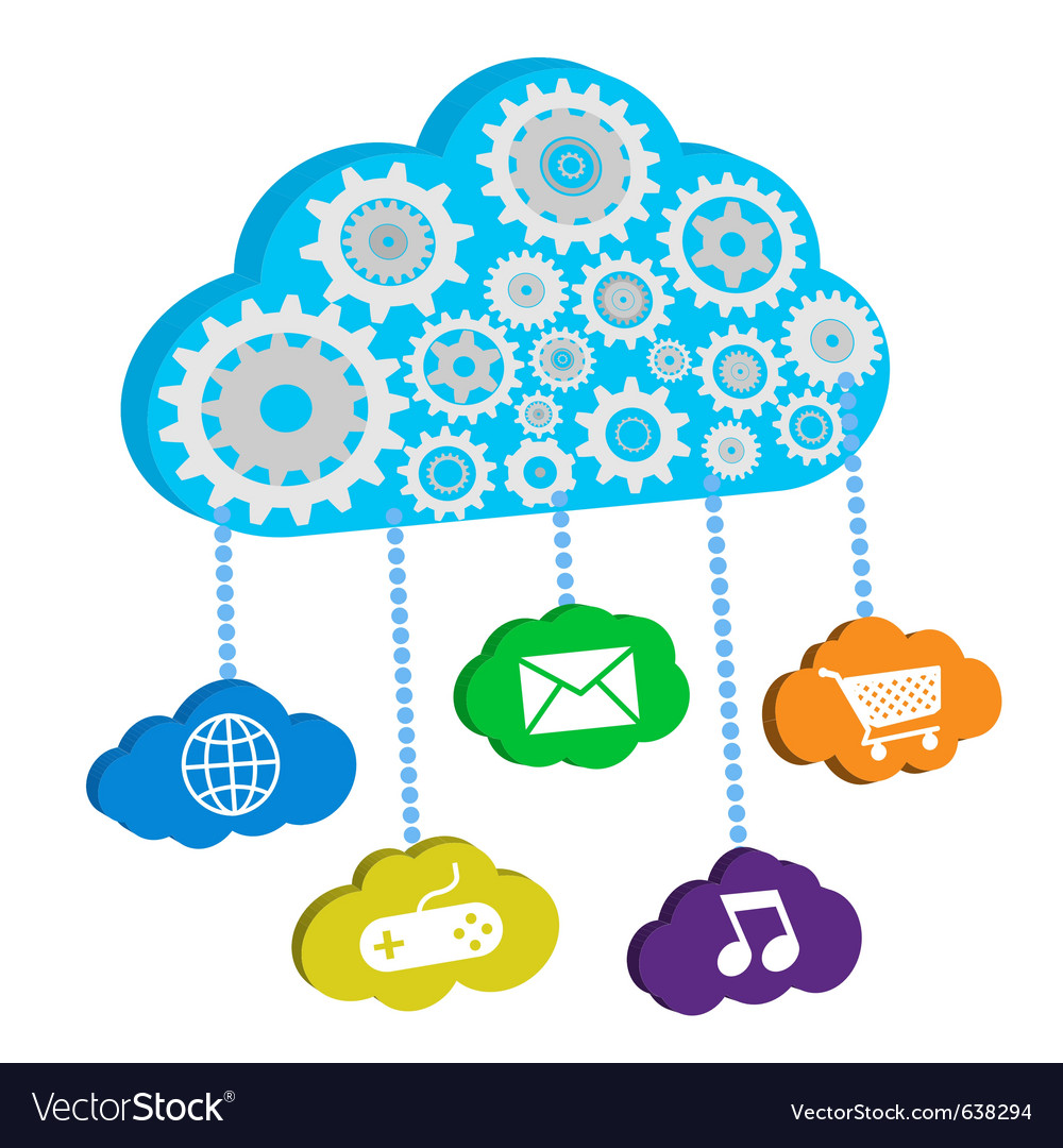 Cloud computing and apps vector | Price: 1 Credit (USD $1)