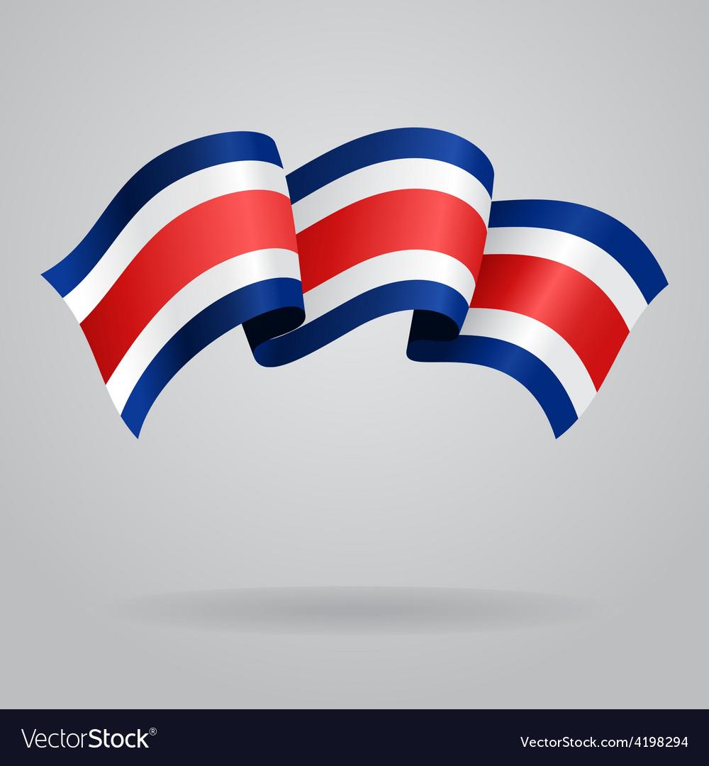 Costa rican waving flag vector | Price: 1 Credit (USD $1)