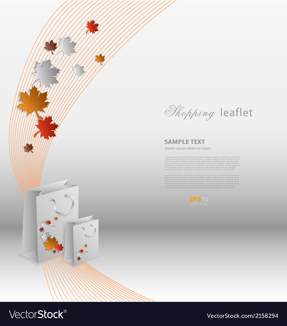 Creative shopping leaflet with stylized shopping vector | Price: 1 Credit (USD $1)