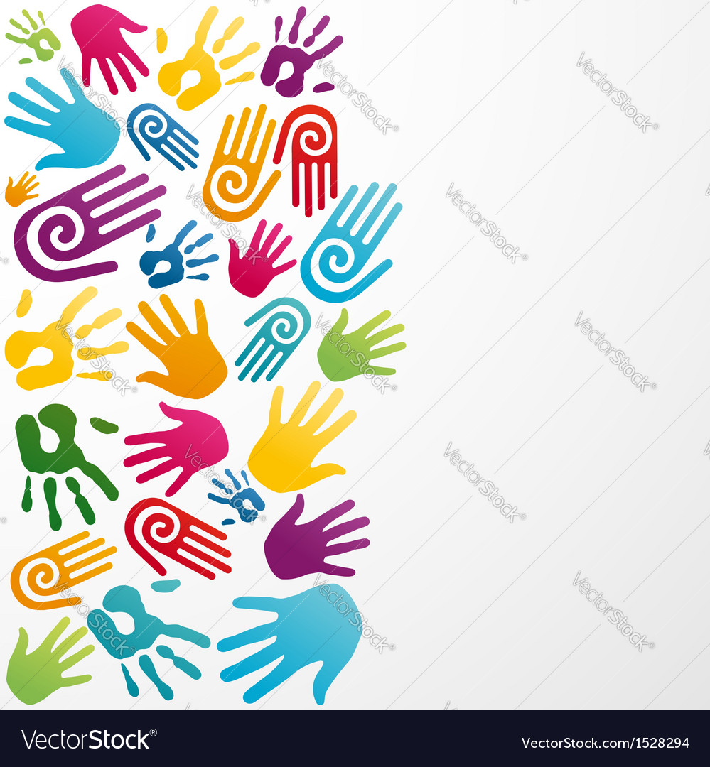 Diversity colors human hand vector | Price: 1 Credit (USD $1)