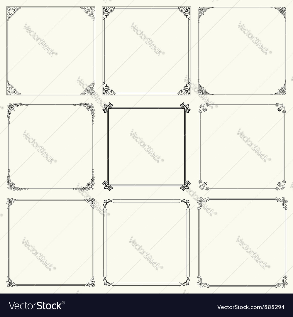 Elegant frame vector | Price: 1 Credit (USD $1)
