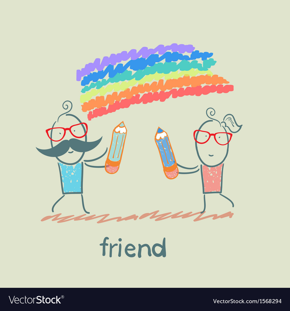 Friend vector | Price: 1 Credit (USD $1)