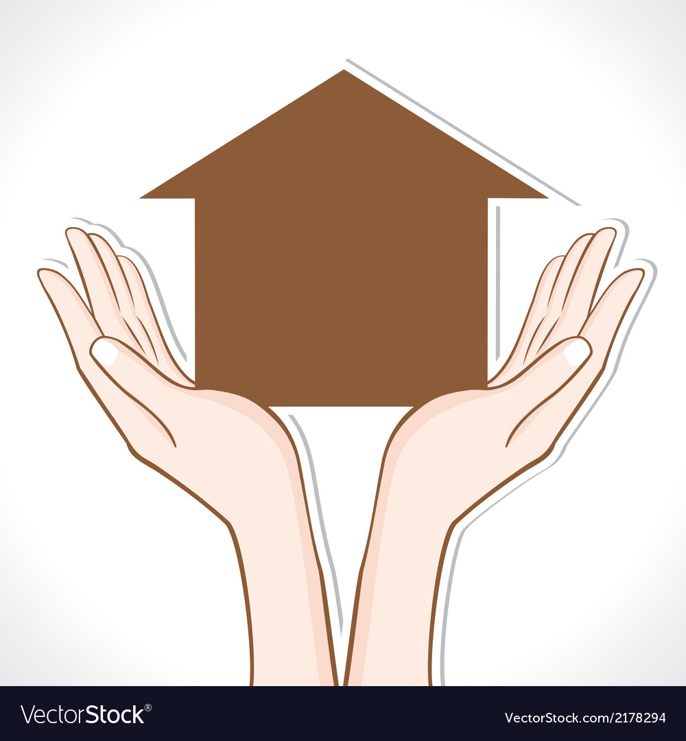 Home in hand vector | Price: 1 Credit (USD $1)