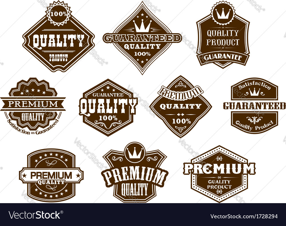 Labels and banners in western style vector | Price: 1 Credit (USD $1)