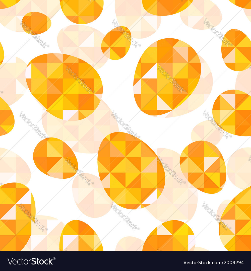 Orange diamond eggs seamless pattern vector | Price: 1 Credit (USD $1)