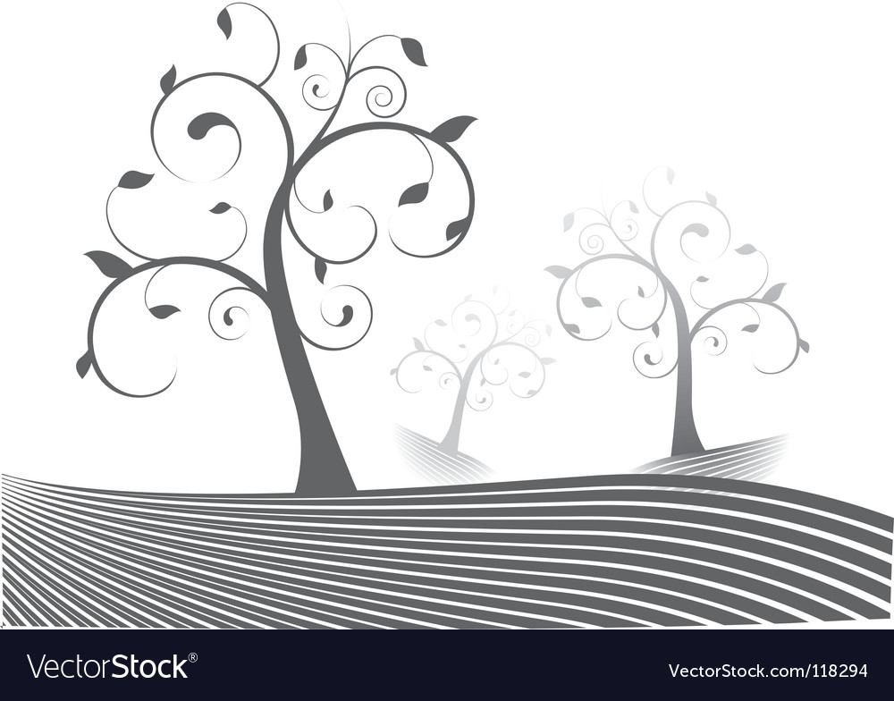Stylized trees vector | Price: 1 Credit (USD $1)