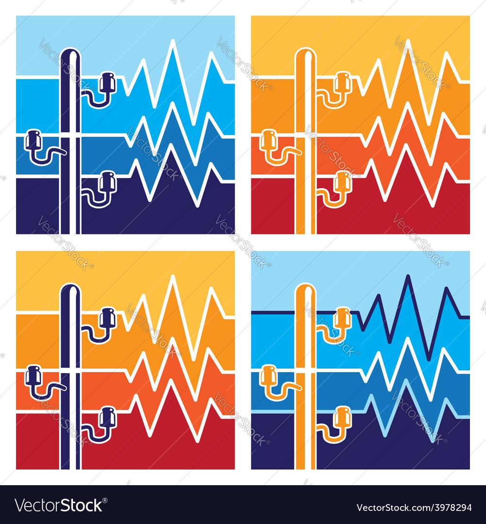 Symbols of high voltage vector | Price: 1 Credit (USD $1)