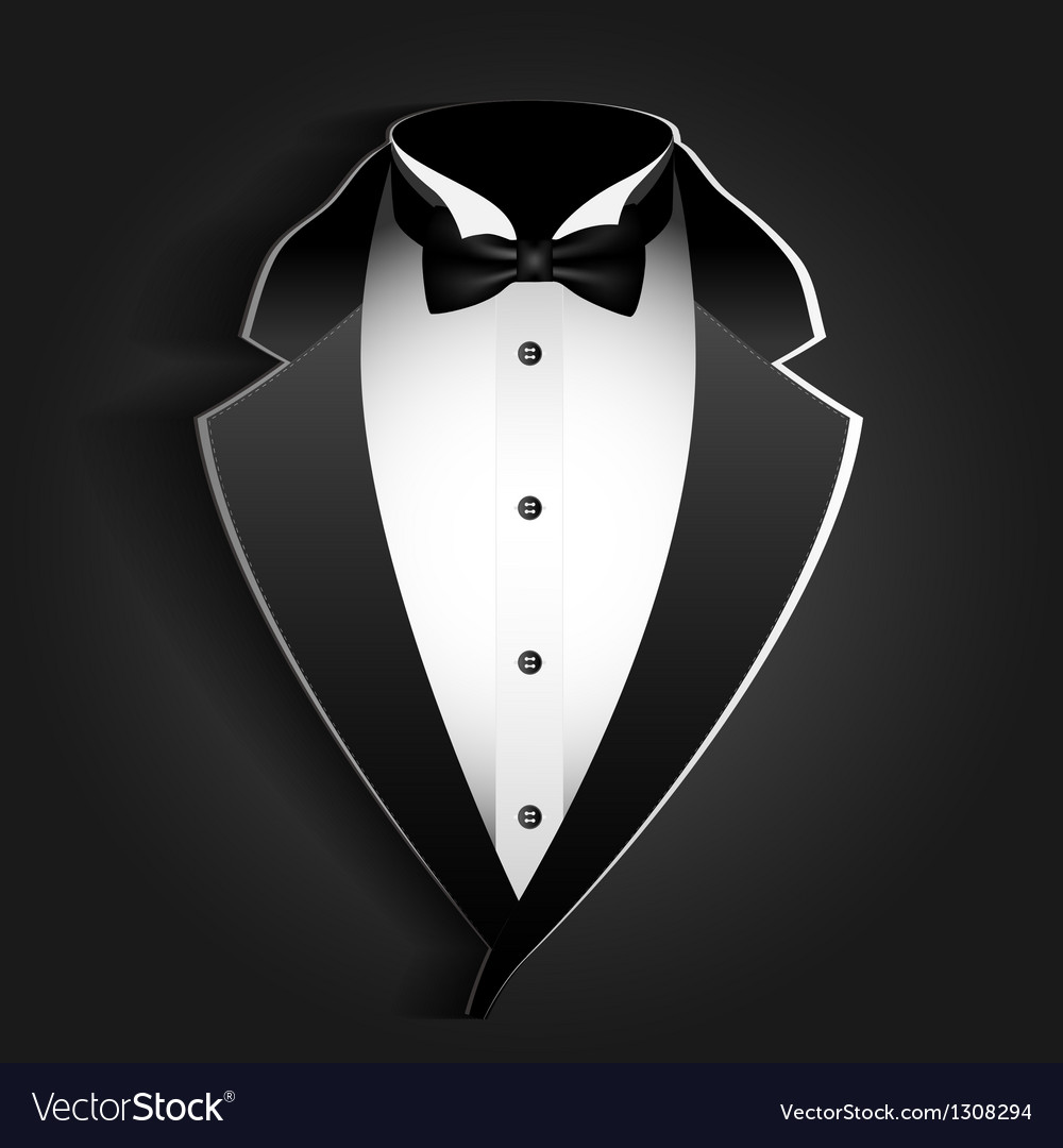 Tuxedo paper vector | Price: 3 Credit (USD $3)
