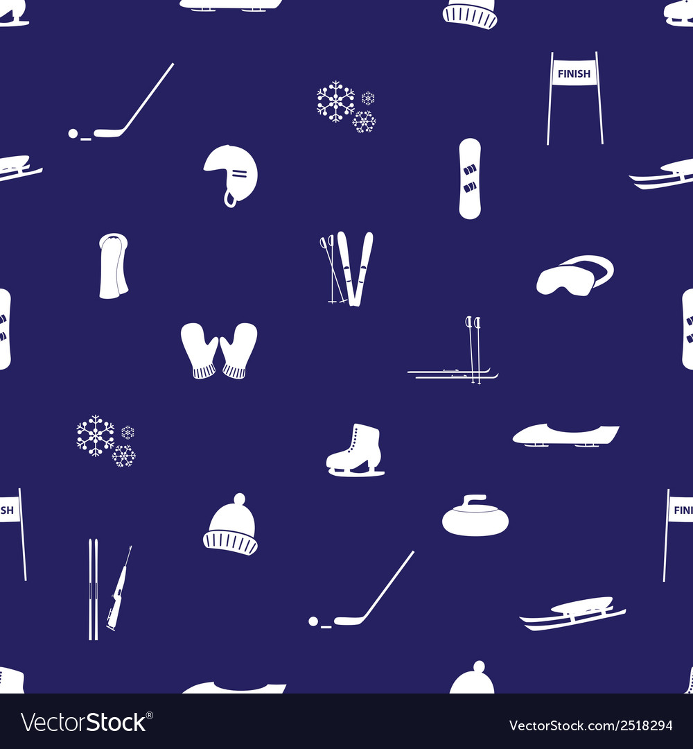 Winter sports and equipment pattern eps10 vector   Price: 1 Credit (USD $1)