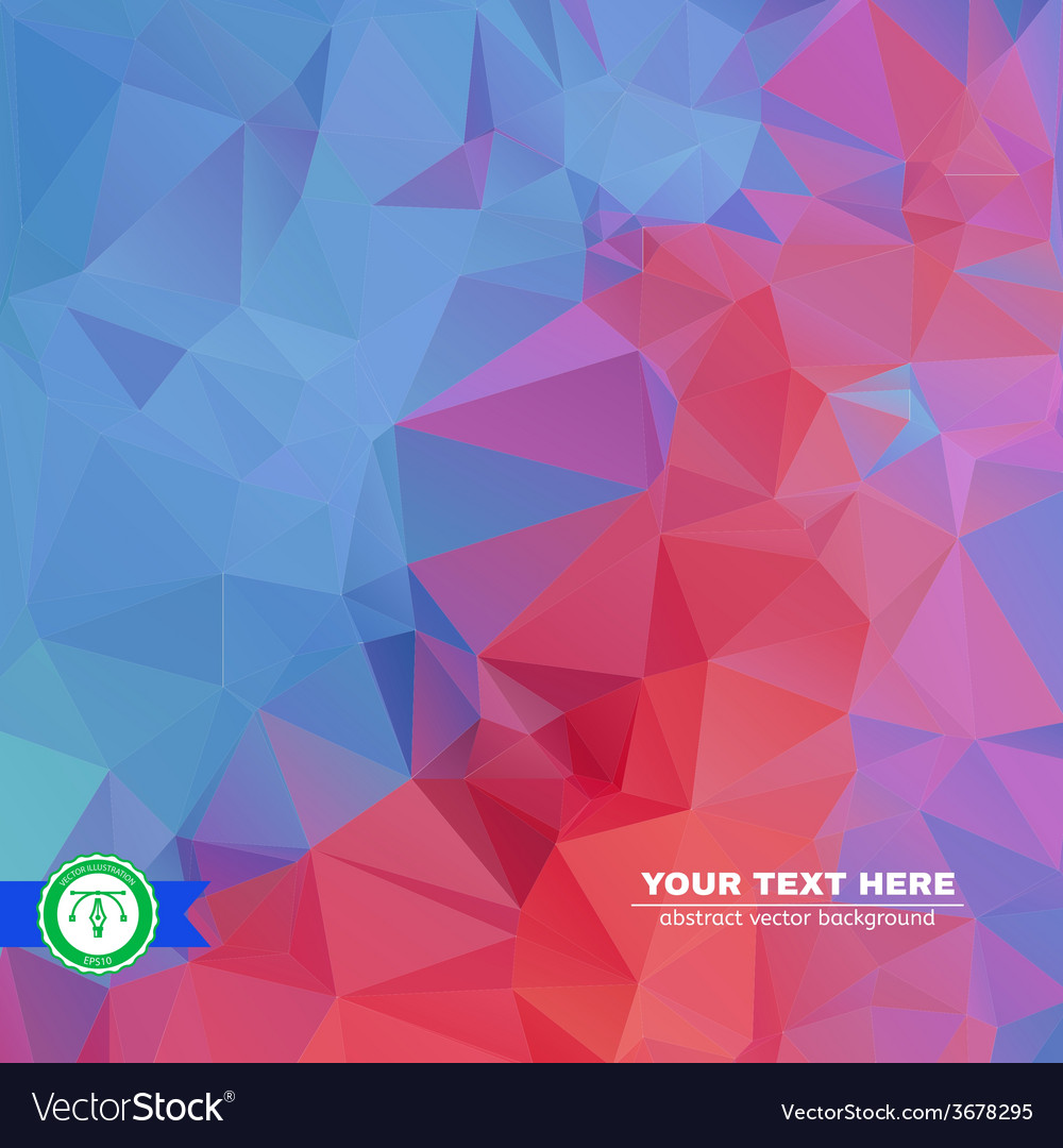 Abstract colorful triangles background vector | Price: 1 Credit (USD $1)
