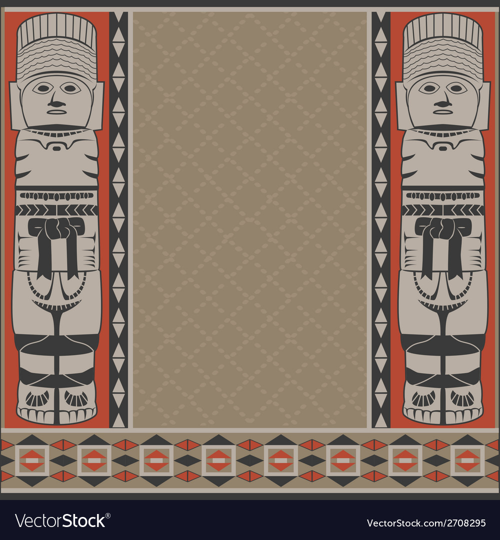 Banner with ancient american ornaments vector | Price: 1 Credit (USD $1)