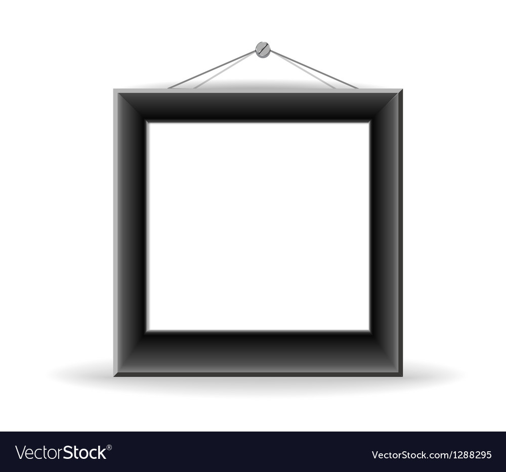 Black picture frame vector | Price: 1 Credit (USD $1)