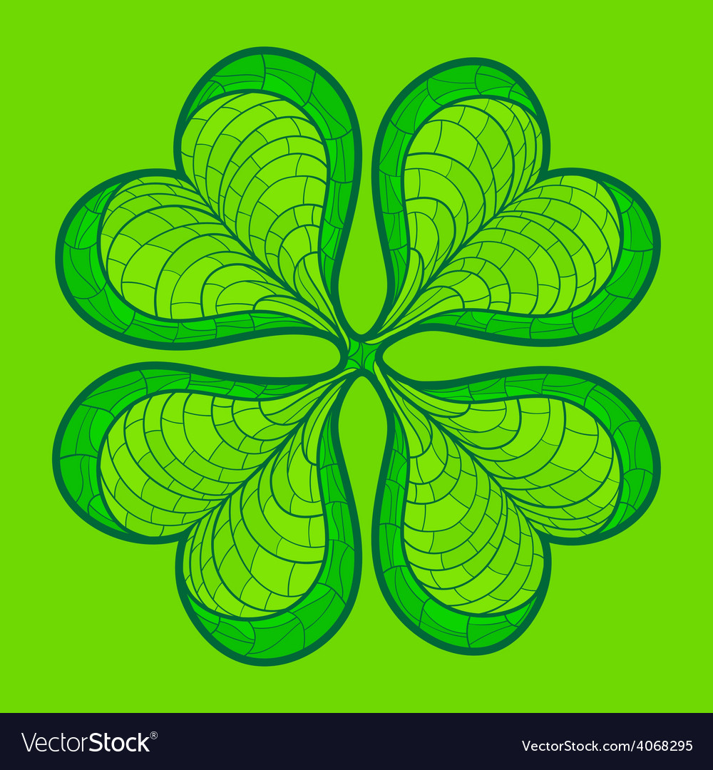 Decorative lucky clover leaf vector | Price: 1 Credit (USD $1)