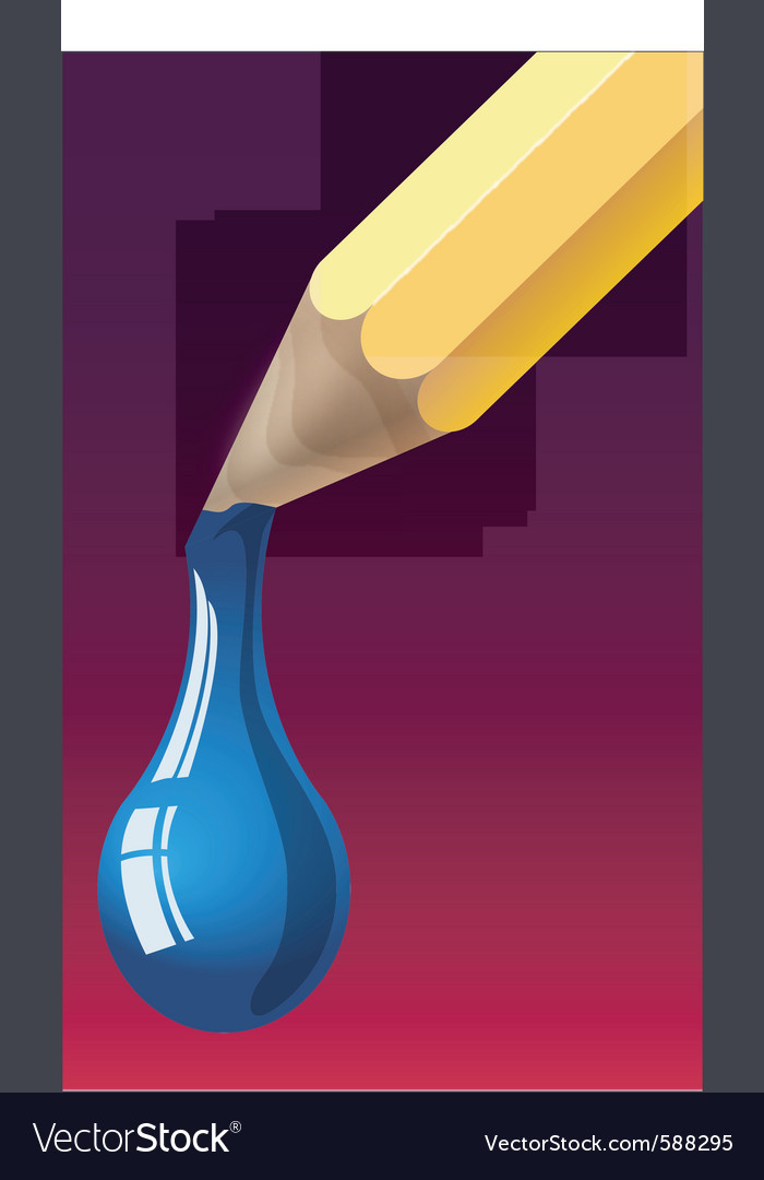 Dripping pencil vector | Price: 1 Credit (USD $1)