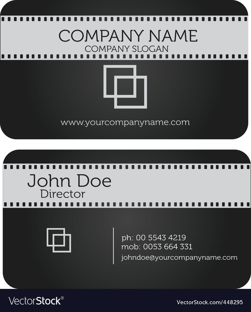 Film business card vector | Price: 1 Credit (USD $1)