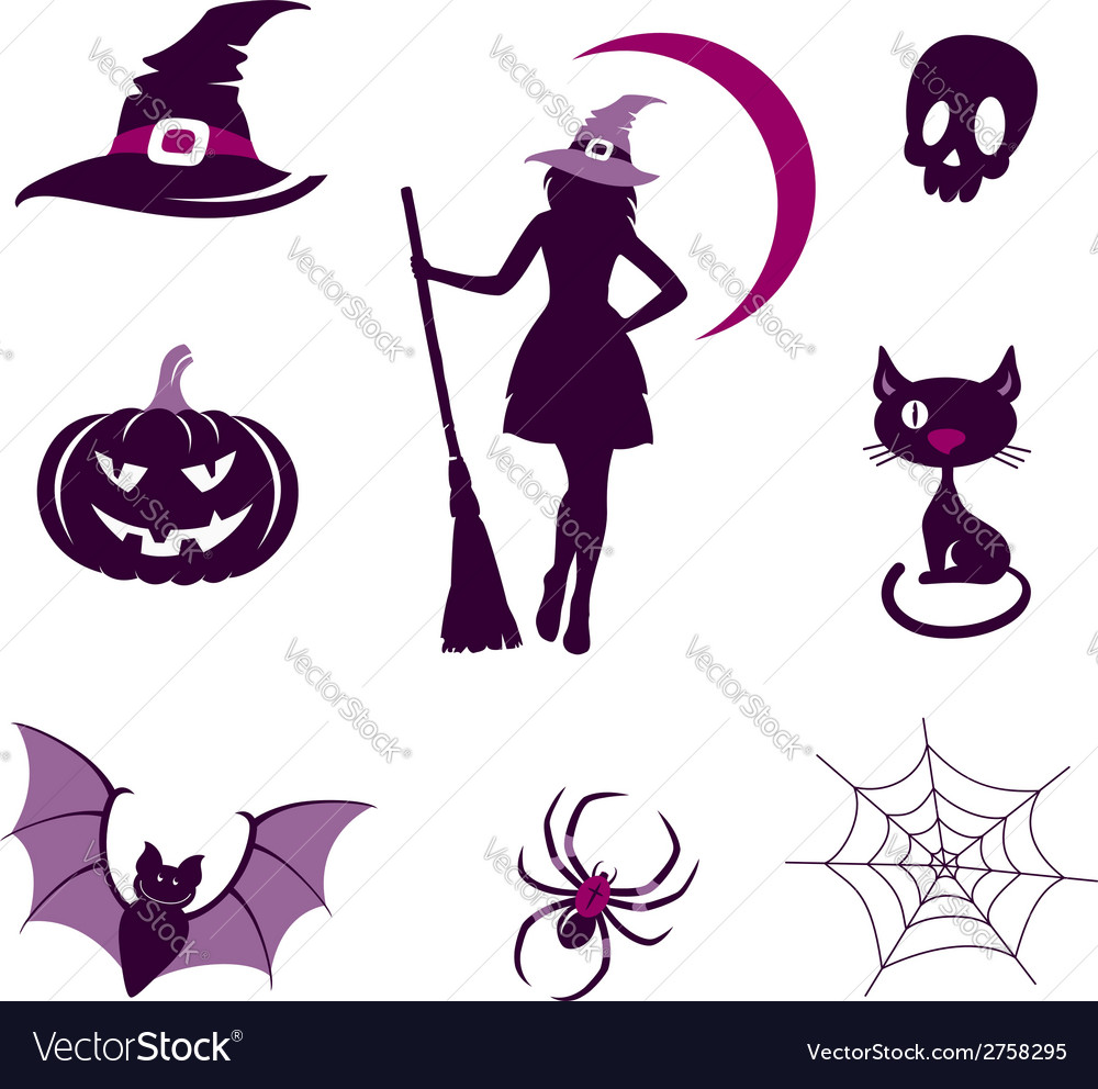 Halloween icons set vector | Price:  Credit (USD $)