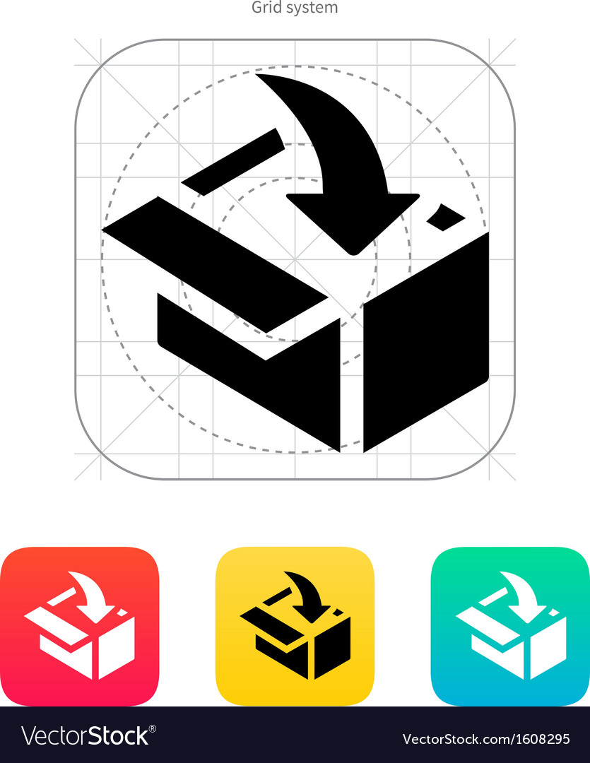 Loading in box icon vector | Price: 1 Credit (USD $1)