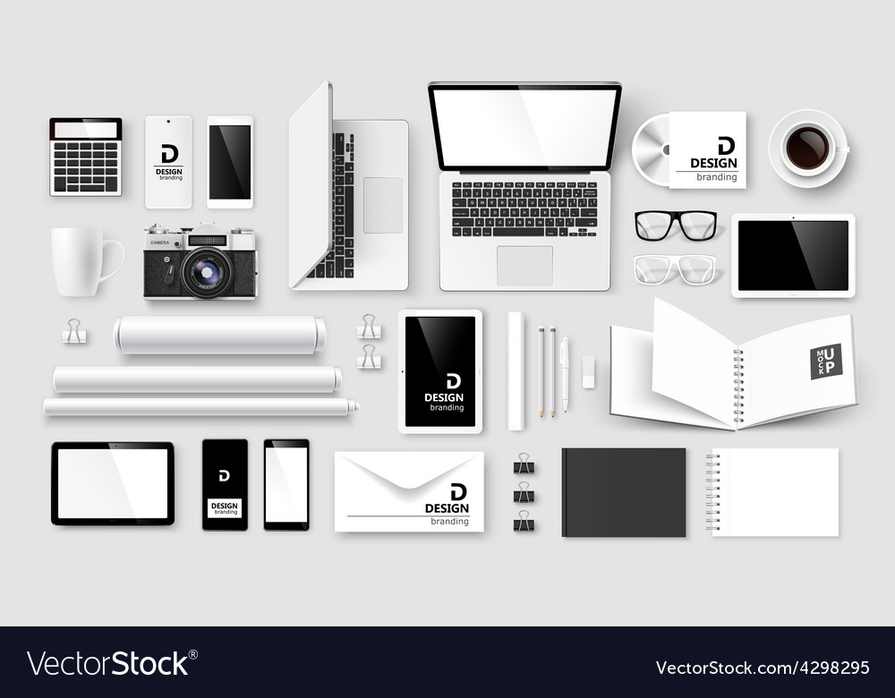 Mock up set of corporate identity and branding vector | Price: 1 Credit (USD $1)
