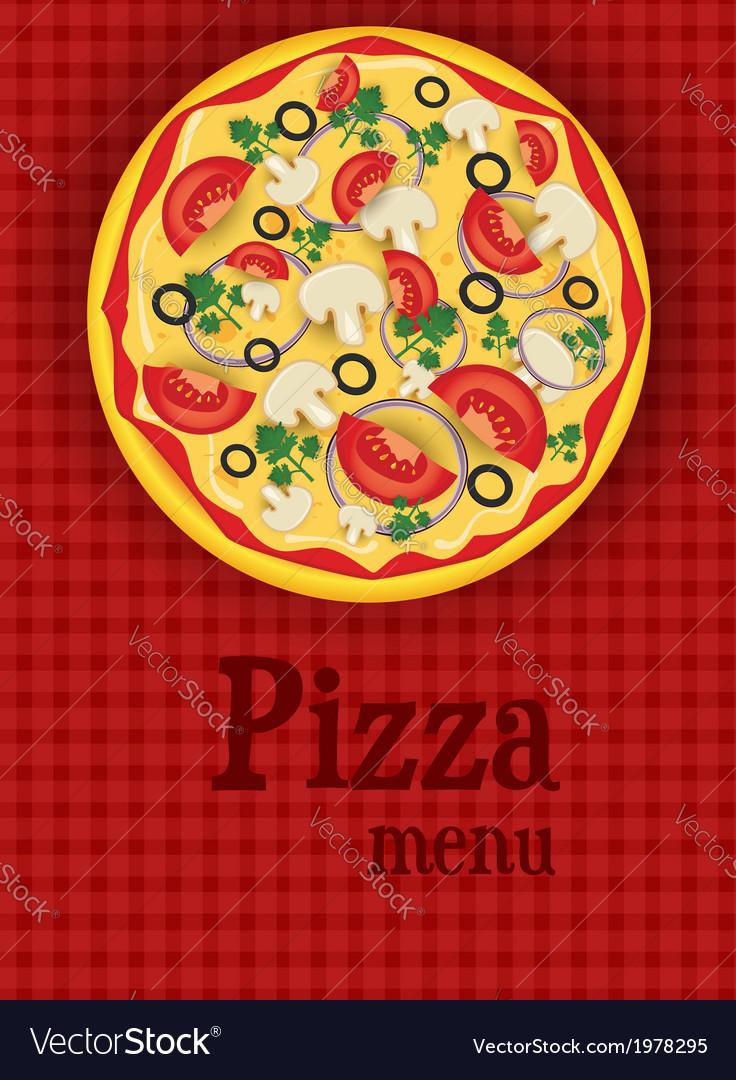 Pizza menu red vector | Price: 1 Credit (USD $1)