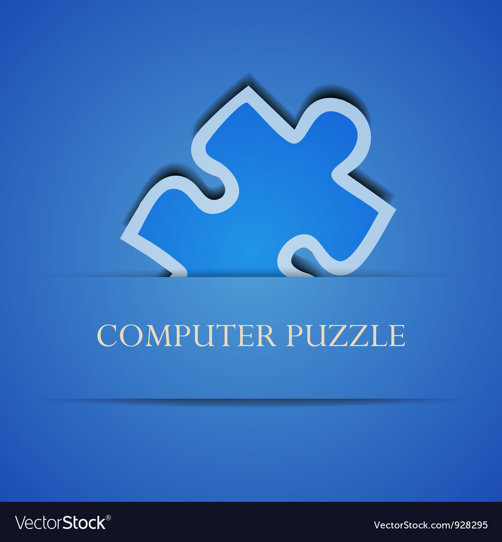 Puzzle icon vector | Price: 1 Credit (USD $1)