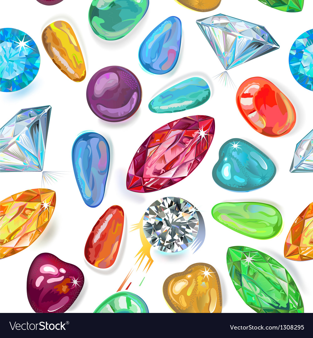 Seamless texture of colored gems vector | Price: 1 Credit (USD $1)