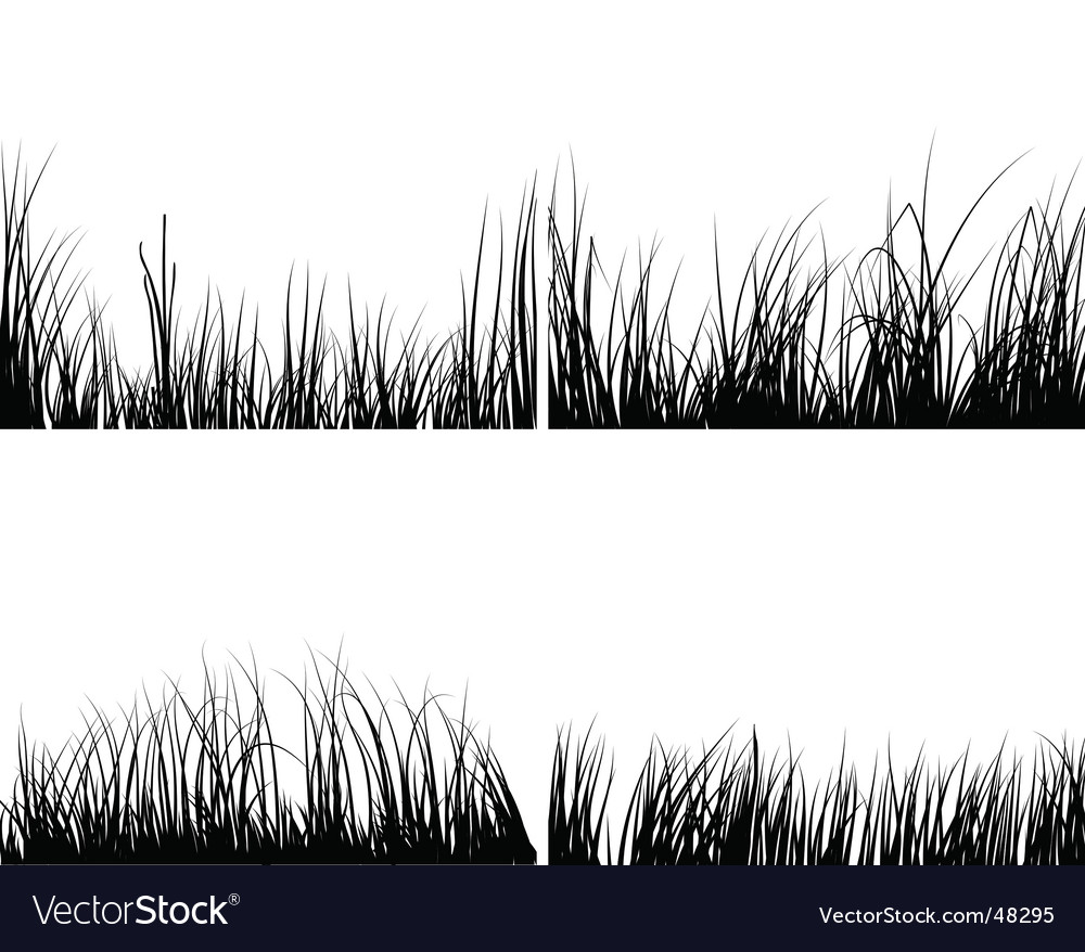 Set of grasses vector | Price: 1 Credit (USD $1)