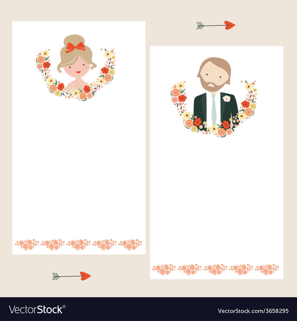 Wedding invitations templates vector | Price: 1 Credit (USD $1)