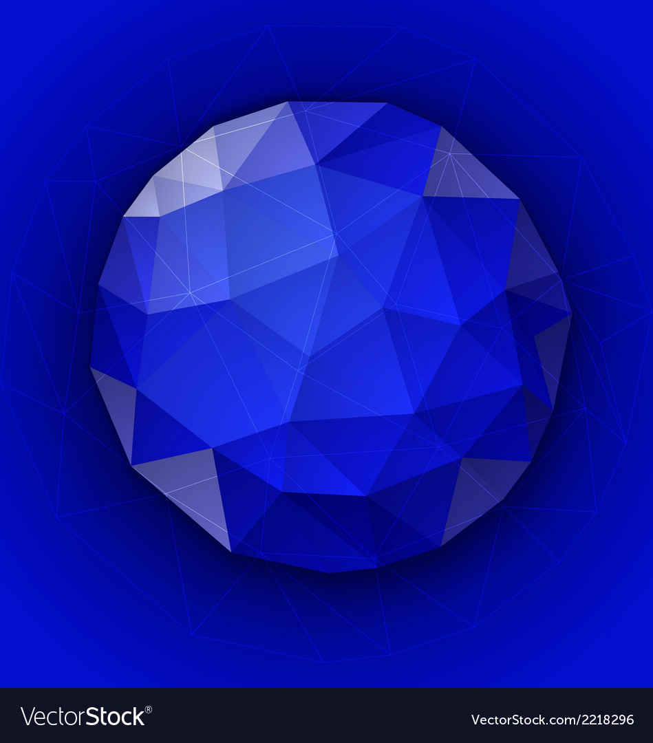 Blue polygonal button vector | Price: 1 Credit (USD $1)