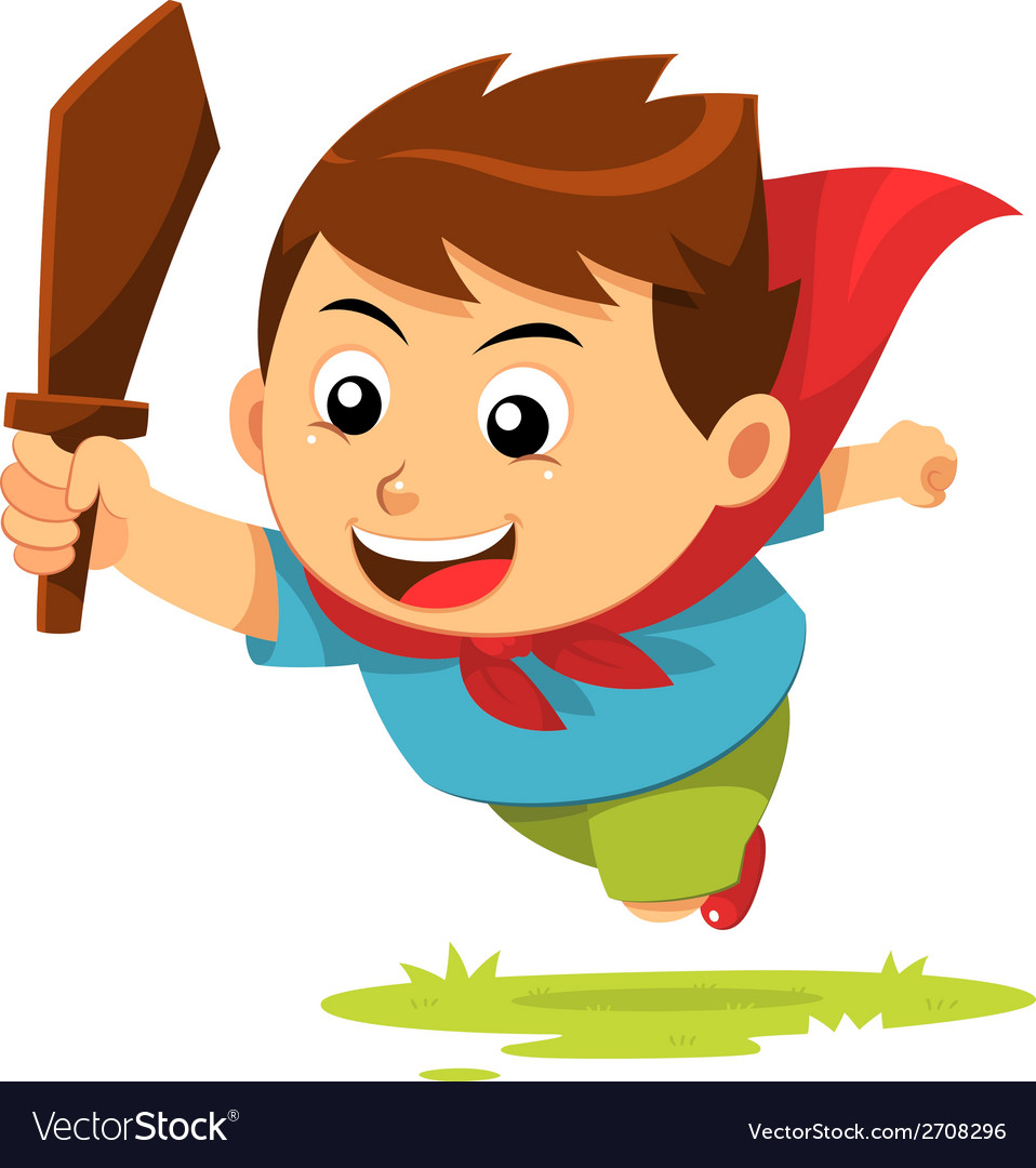 Boy in action vector | Price: 1 Credit (USD $1)