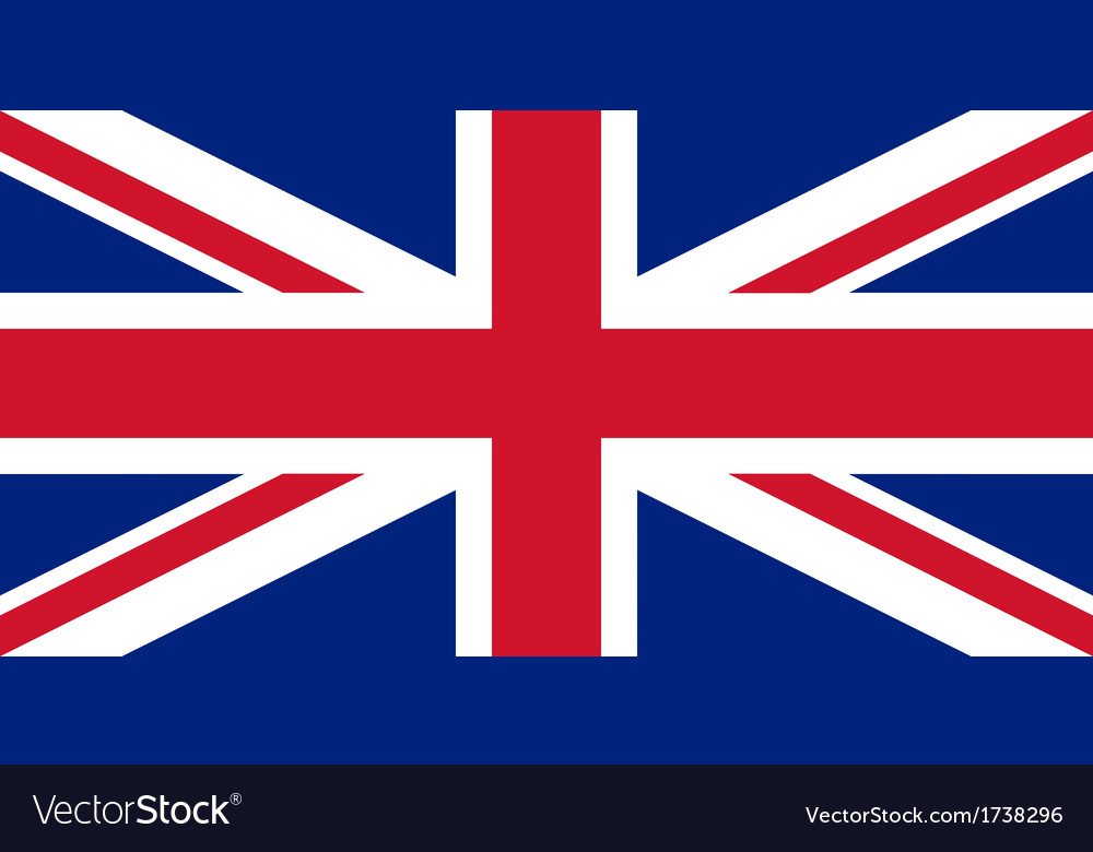 British flag with real colours and proportions vector   Price: 1 Credit (USD $1)