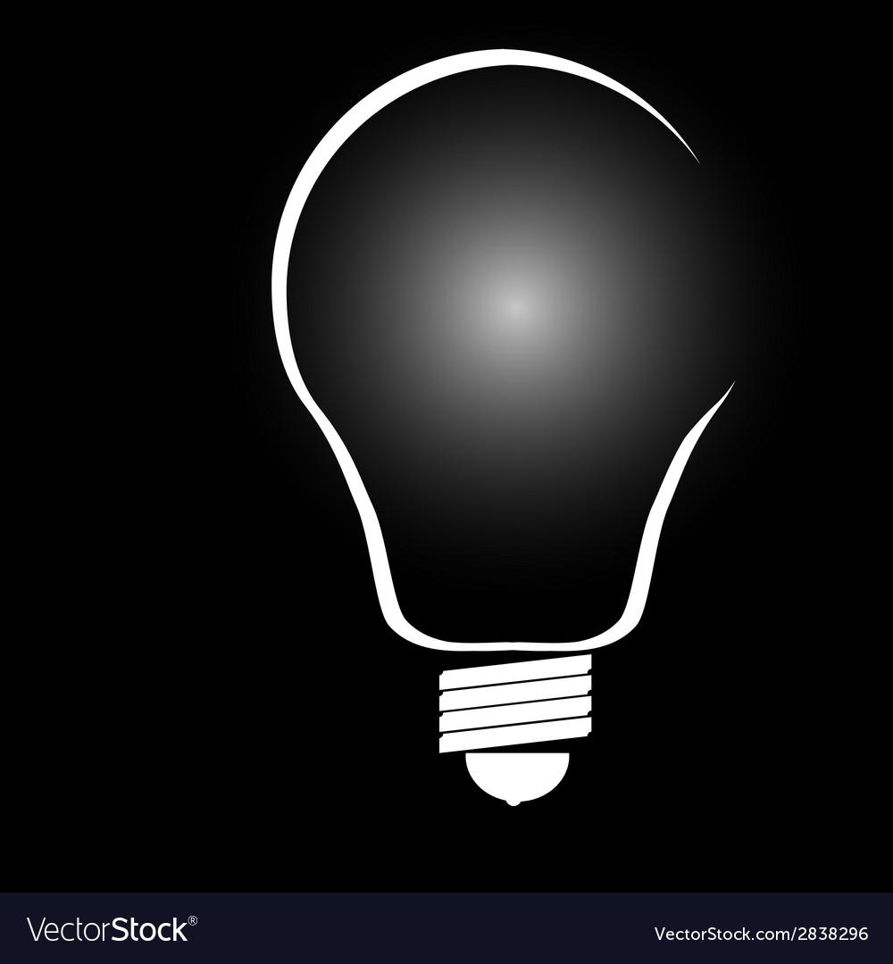Buld on black background vector | Price: 1 Credit (USD $1)