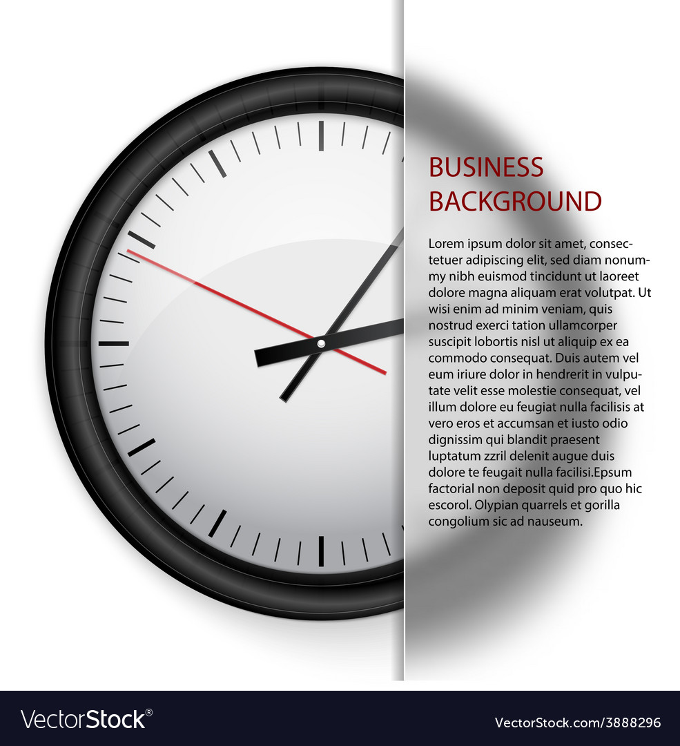 Business background clock vector | Price: 1 Credit (USD $1)