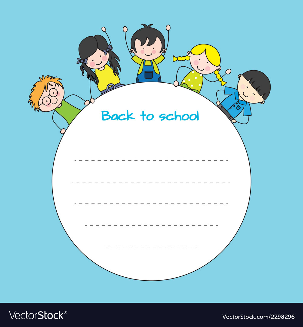 Children back to school vector | Price: 1 Credit (USD $1)