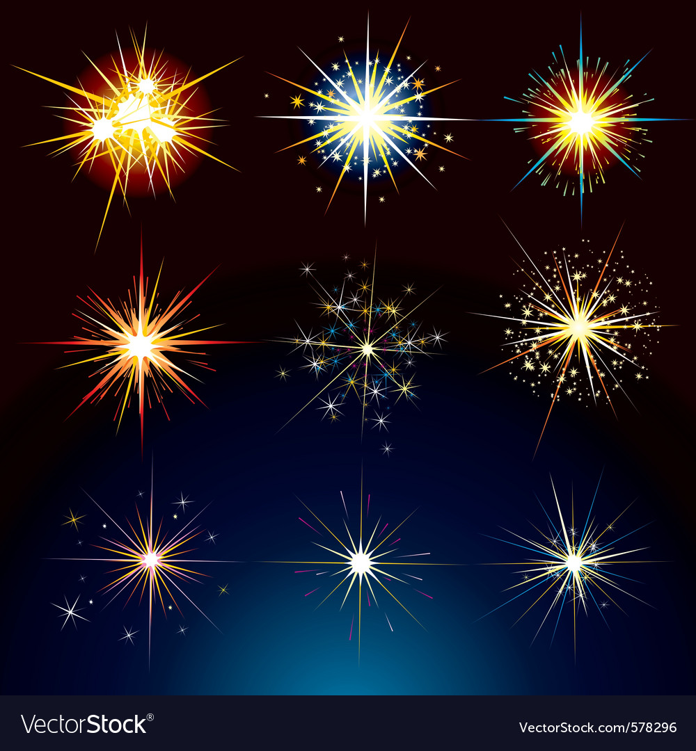 Fire works vector | Price: 1 Credit (USD $1)