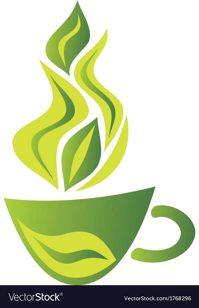 Green tea cup vector | Price: 1 Credit (USD $1)
