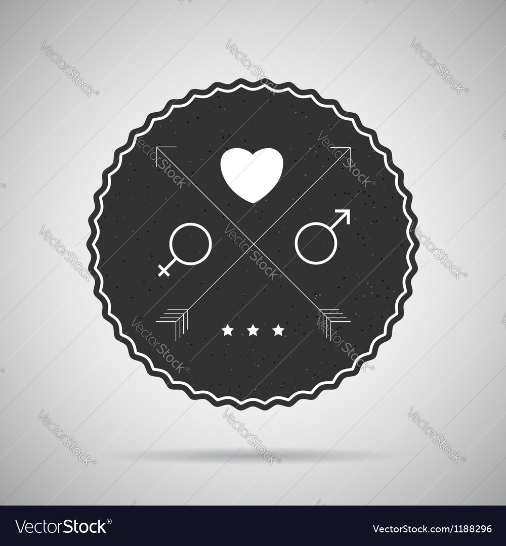 Hipster badge postcard vector | Price: 1 Credit (USD $1)
