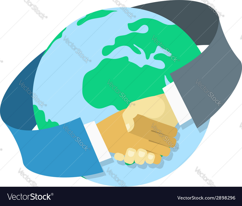 International business cooperation vector | Price: 1 Credit (USD $1)