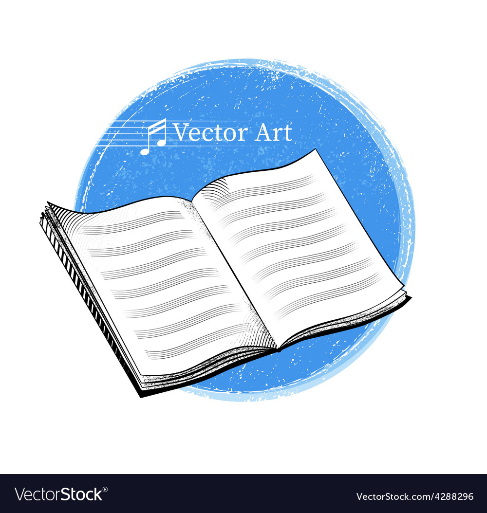 Music sheet notebook vector   Price: 1 Credit (USD $1)
