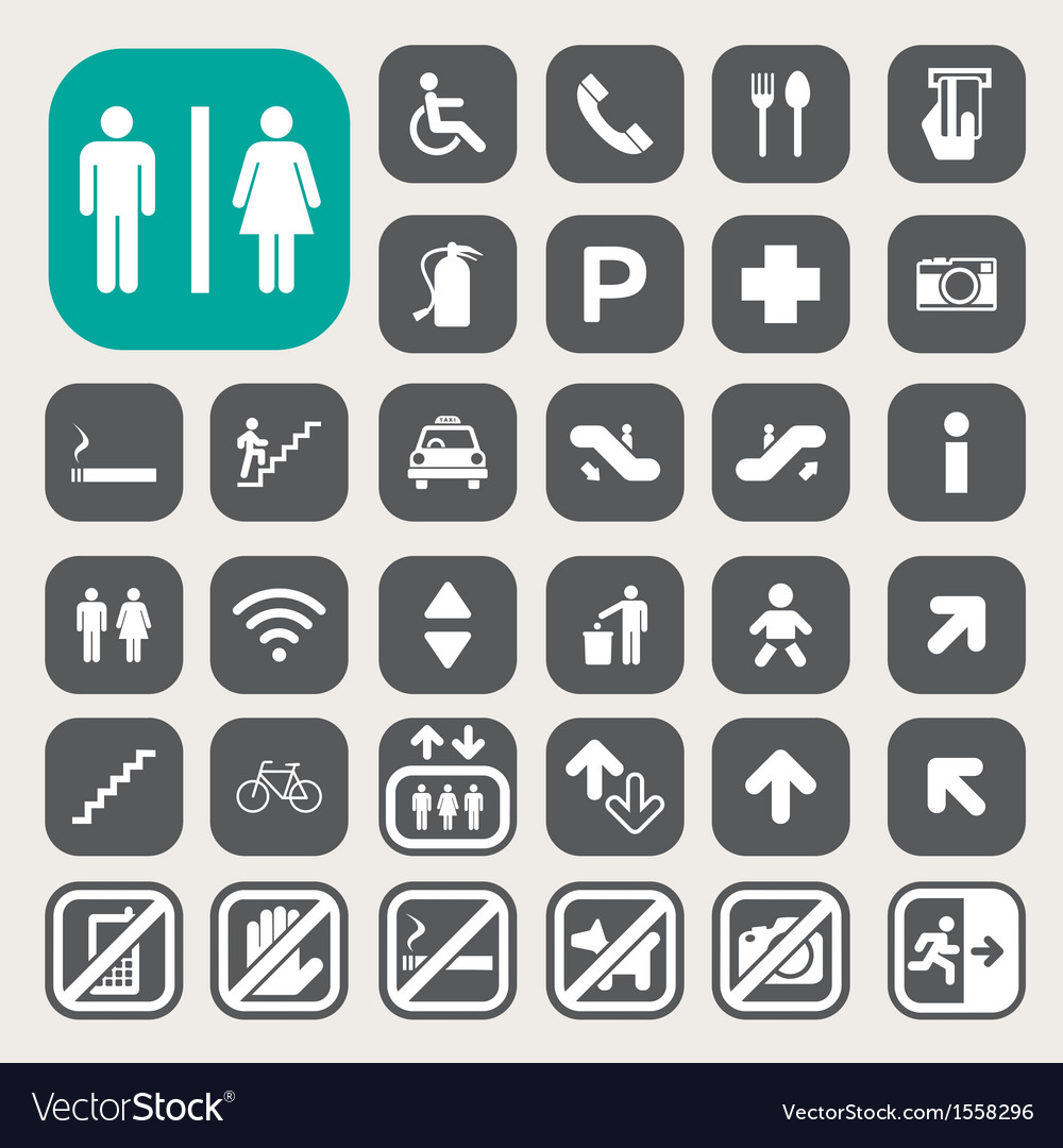 Public icons set vector | Price: 3 Credit (USD $3)