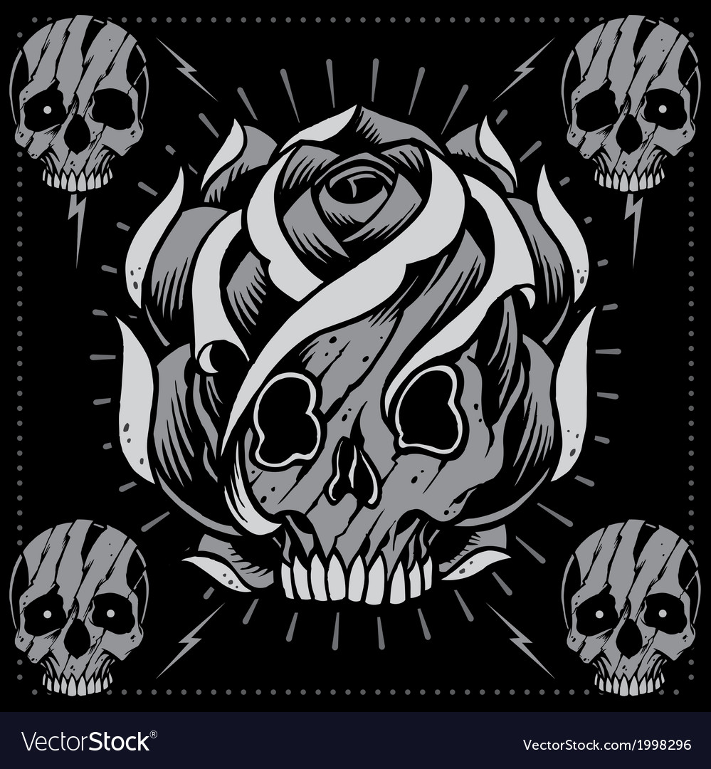 Skulls and skull rose shape vector | Price: 1 Credit (USD $1)