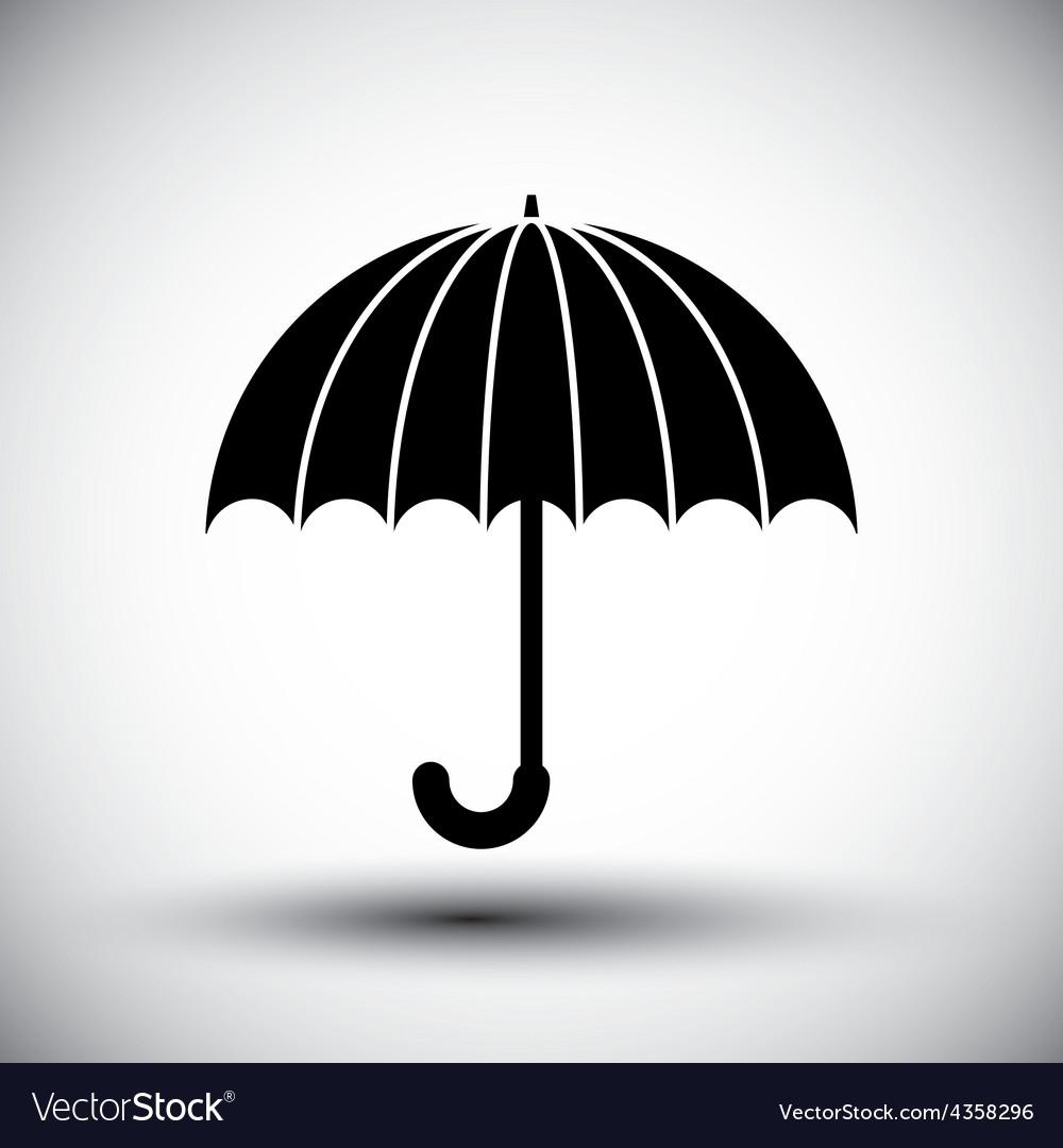 Umbrella simple single color icon vector | Price: 1 Credit (USD $1)