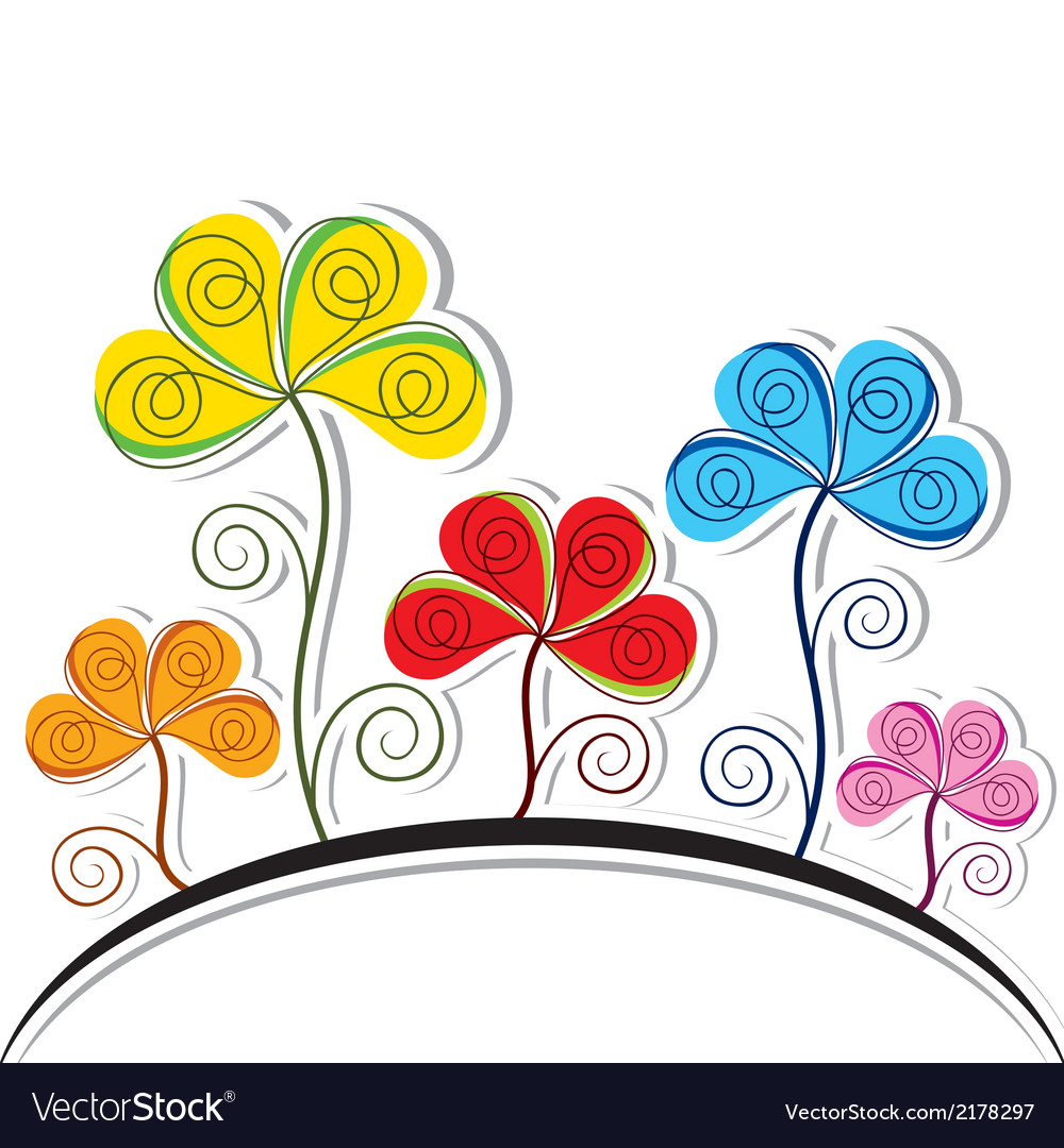 Abstract colorful flower background vector | Price: 1 Credit (USD $1)